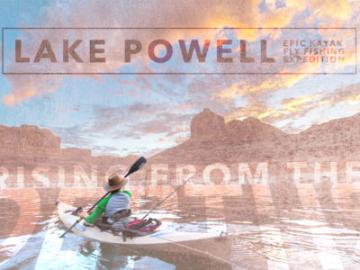 Lake Powell kayak fly fishing expedition chasing stripers