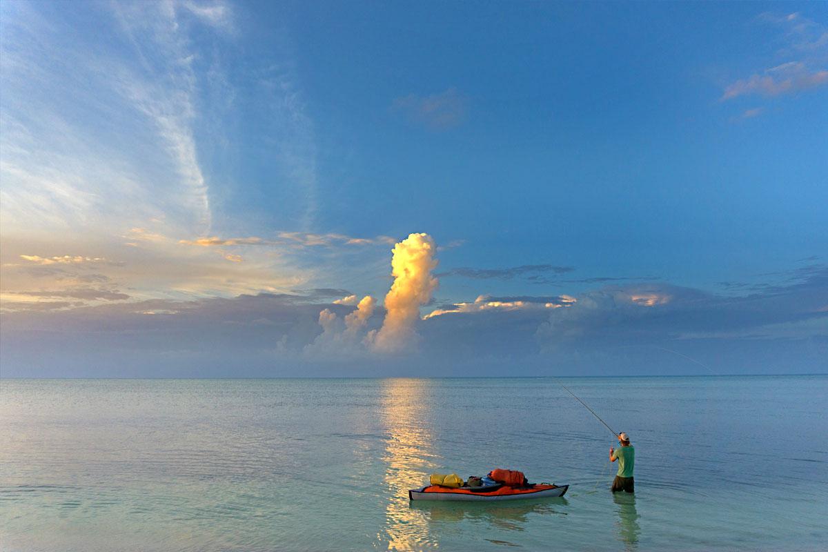 DIY kayak fly fishing cozumel mexico bonefish baby tarpon