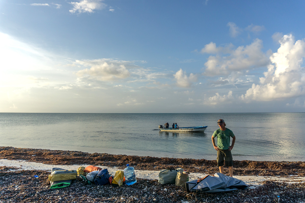 Mexico kayak fly fishing