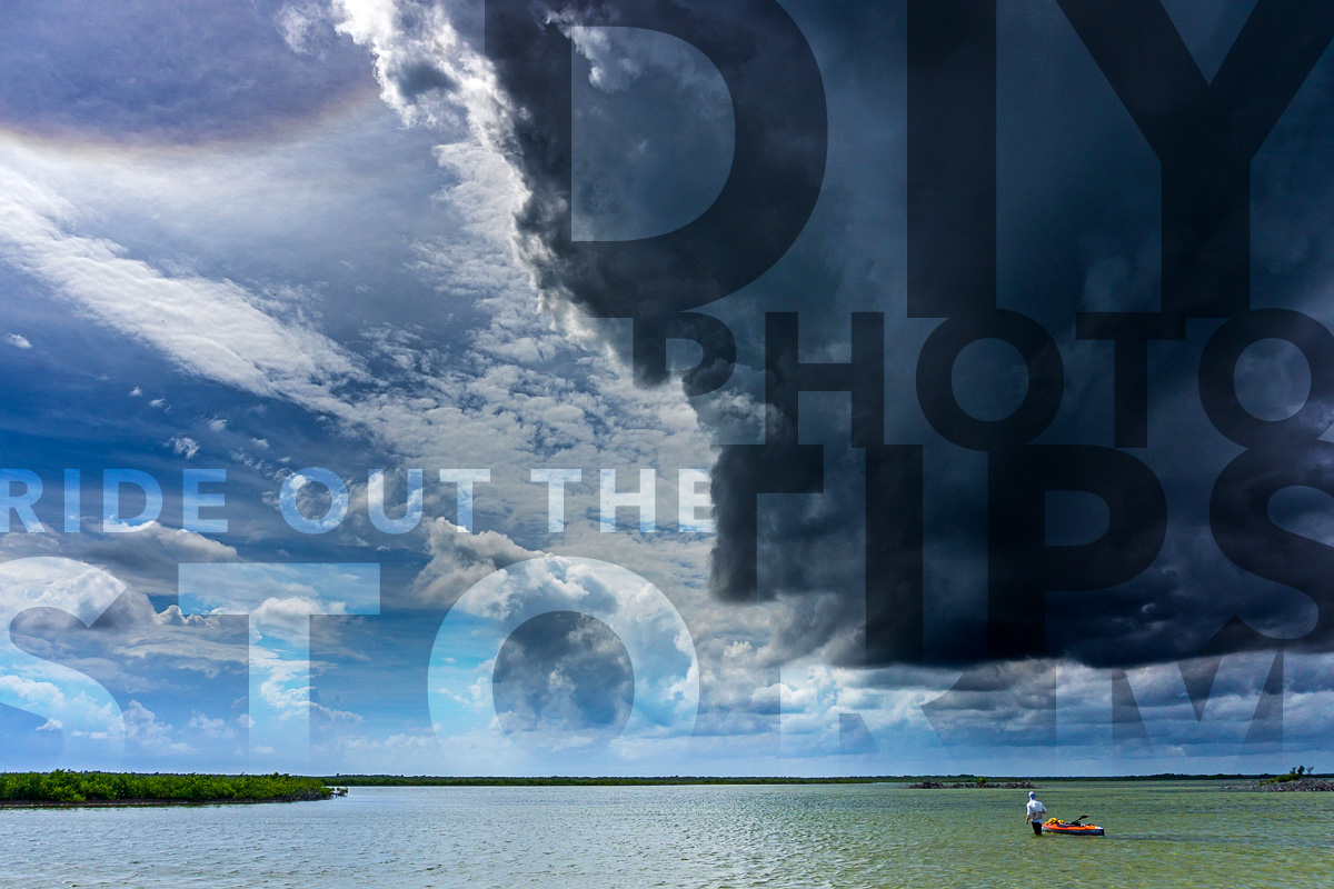 diy fly fishing photography tips for stormy weather