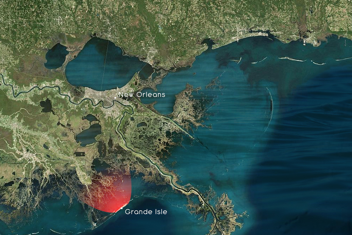 Fly Fishing Louisiana Redfish regional map