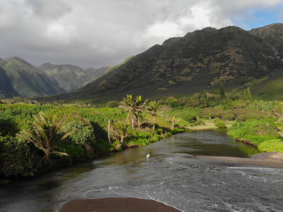 fly fishing molokai hawaii halawa valley adventure