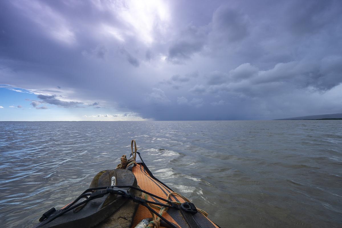 fly fishing molokai hawaii kayak adventure