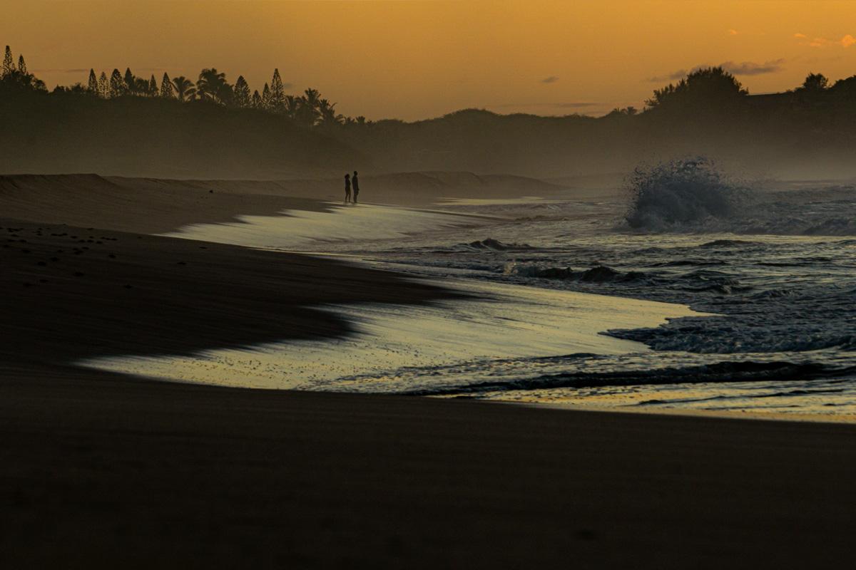 molokai hawaii kayak fly fishing sunset papohaku